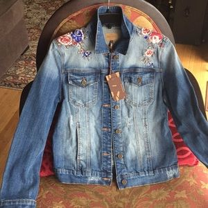 Driftwood Embroidered Jean Jacket New